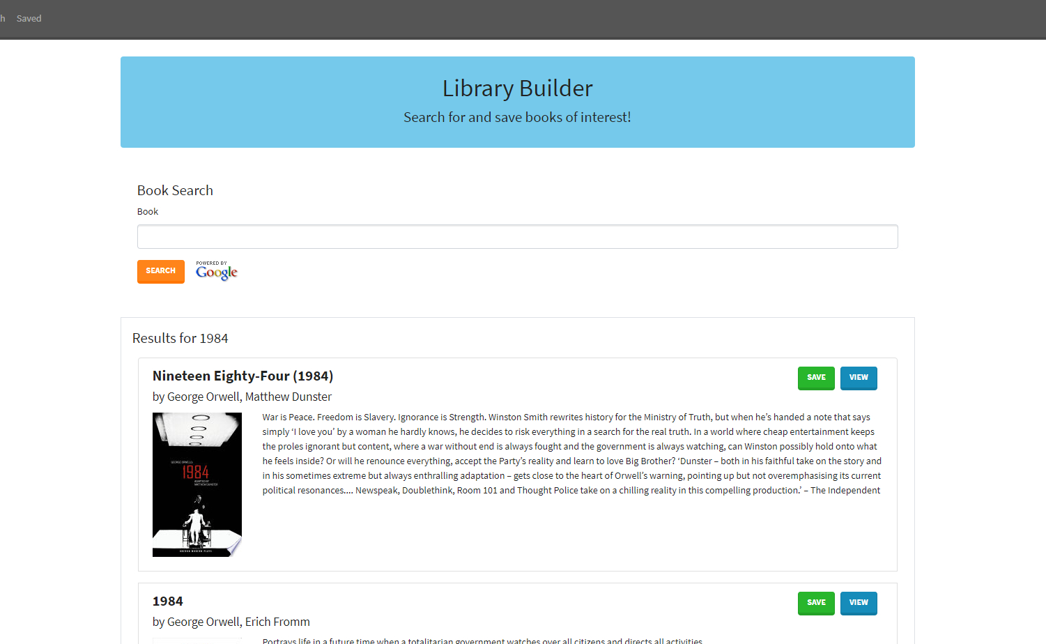 library builder screenshot